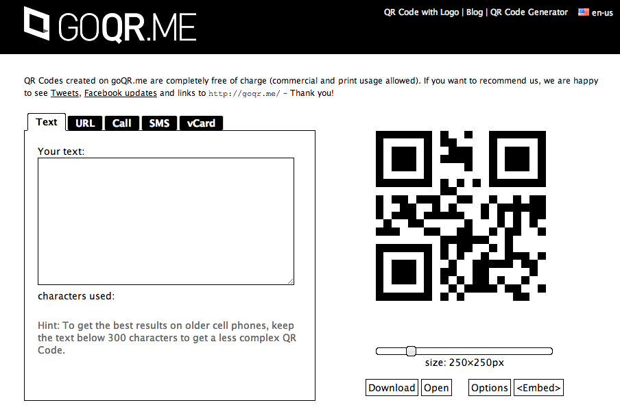 Free QR code generator and QR code online creator. Create QR codes ready to print.