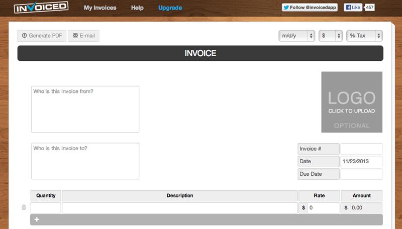Invoiced - Free Invoice Generator