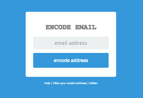 Hide Email from Robots